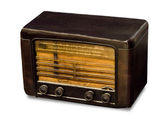 Vintage radio isolated on white background — 图库照片