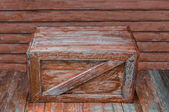 Old wooden box — Stock Photo
