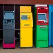 Stock Photo: Colorful of Automated teller machine