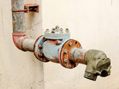 Old pipe valve connection — Stock Photo