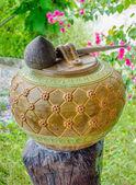 Gamla lergods thailändsk stil — Stockfoto