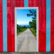 Beautiful wooden door — Stock Photo #32890629
