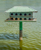 Wooden of birdhouse — Stock Photo