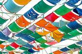Colorate di tela di lamiera del tetto — Foto Stock