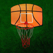 Basketball court on green background — Stock Photo