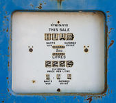 Old analog gas pump meter in gas station — Stock Photo