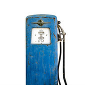 Old gas pump isolated on white background — Stock Photo