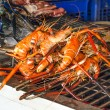 Shrimp grilled on charcoal oven — Stock Photo