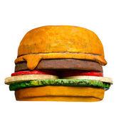 Model of hamburger isolated on white background — Stock Photo