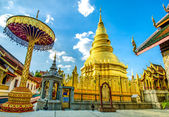 Golden pagoda in Temple of Lumpoon province, Thailand — Stock Photo