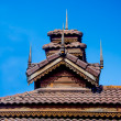 Wood roof of sanctuary in temple. Mae Hong son province, Thailan — Stock Photo #36357657