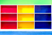 Abstract colorful of shelf — Stockfoto