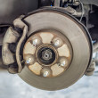 Brake disk and detail of the wheel assembly — Stock Photo #37559189