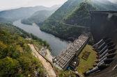 Electric power plant, bhumibol dam in Tak province, Thailand — Stock Photo