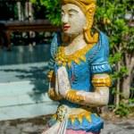 Colourful of deva sculpture — Stock Photo