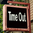 Stock Photo: Time out sign