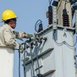 Stock Photo: Minburi, Thailand- Nov 9:Electriciare installing high powered