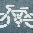 Bicycle road sign painted on the pavement — Stock Photo #42538045