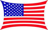 Map flag usa isolated on white background  — Stock Photo