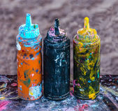 Colorful ink in plastic  bottles  — Stock Photo