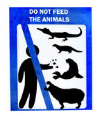 Sign of not feed for animals — Stock Photo