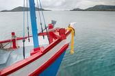 Colourful of wooden boat of fisherman — Stock Photo