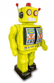 Retro robot toy — Stock Photo