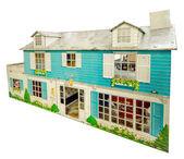 Old model house isolated on white background — Stock Photo