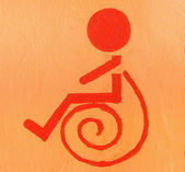 Sign of Handicap or wheelchair person — Stock Photo