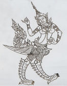 Carving stainless sheet of deva.This is traditional and generic — Stock Photo