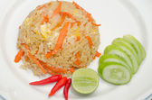 Fried rice with chicken — Stock Photo