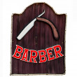 Sign of barber shop isolated on white background — Stock Photo