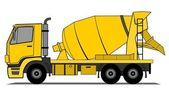 Cement mixer truck vector — Stock Vector