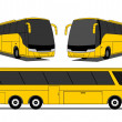 Stock Vector: Coach bus