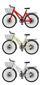 City bicicle — Stock Vector