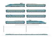 Yüksek hızlı tren seti — Stok Vektör