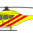 Ambulance helicopter — Stock Vector