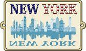 New York label — Stock Vector