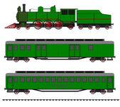 Steam locomotive — Stock Vector