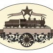 Vintage locomotive logo — Stock Vector