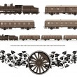 Vintage train kit — Stock Vector