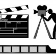 Stock Vector: Movies production collection