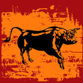 Grunge-bull achtergrond — Vector de stock