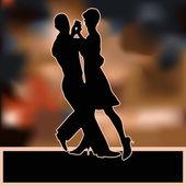 Ballroom Dance Flyer — Stock Vector
