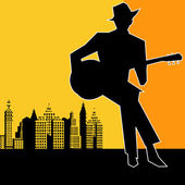 Big City Blues Guitar Concert — Stockvektor