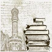 Torre livro — Vetor de Stock