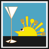 Sundowners Aperitifs — Stockvektor