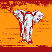 Elephant Background — Stock Vector