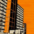 Orange Urban City Street - Grafika wektorowa
