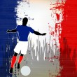 Stock Vector: Football France
